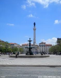 Praça Dom Pedro IV - Praça Rossio - Lisbonne