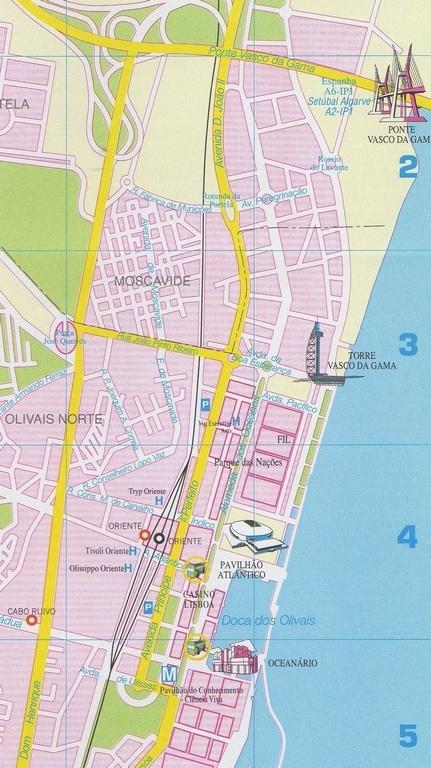 carte plan Lisbonne quartier Parc des Nations Parque das Nações vasco da gama