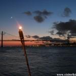 Pont 25 avril Lisbonne nuit