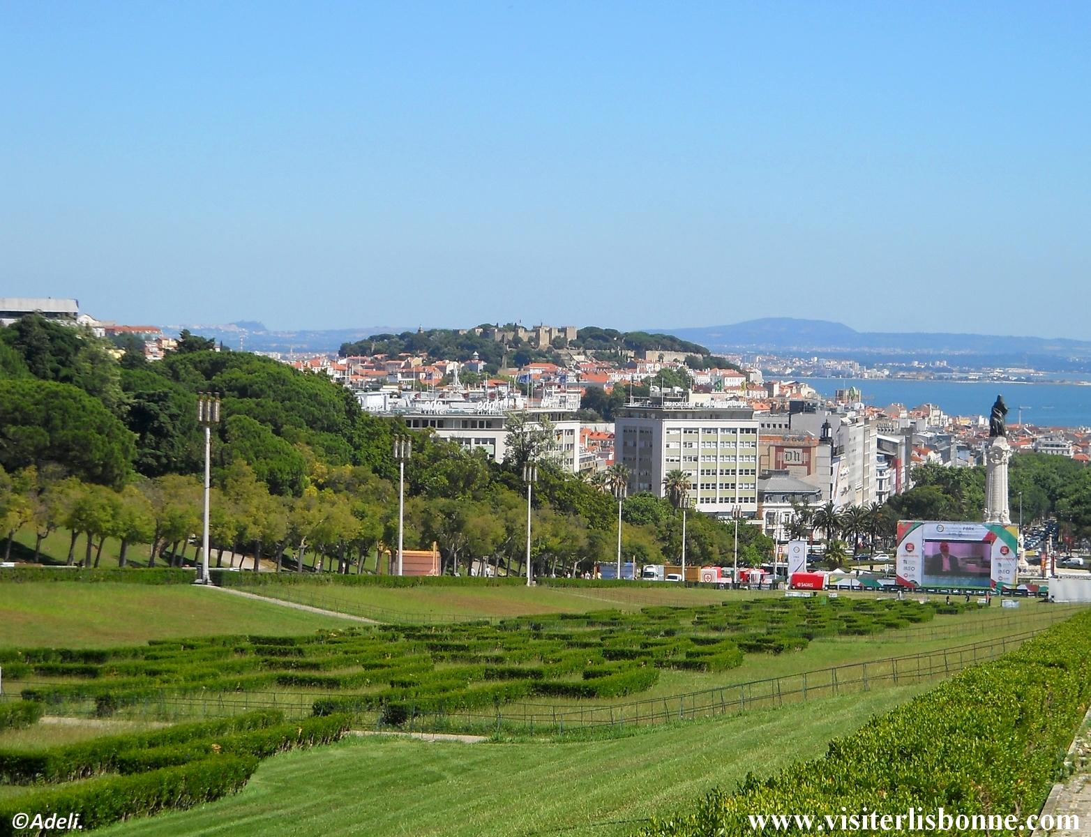 Parc Eduardo VII - Castelo de Sao Jorge - Lisbonne
