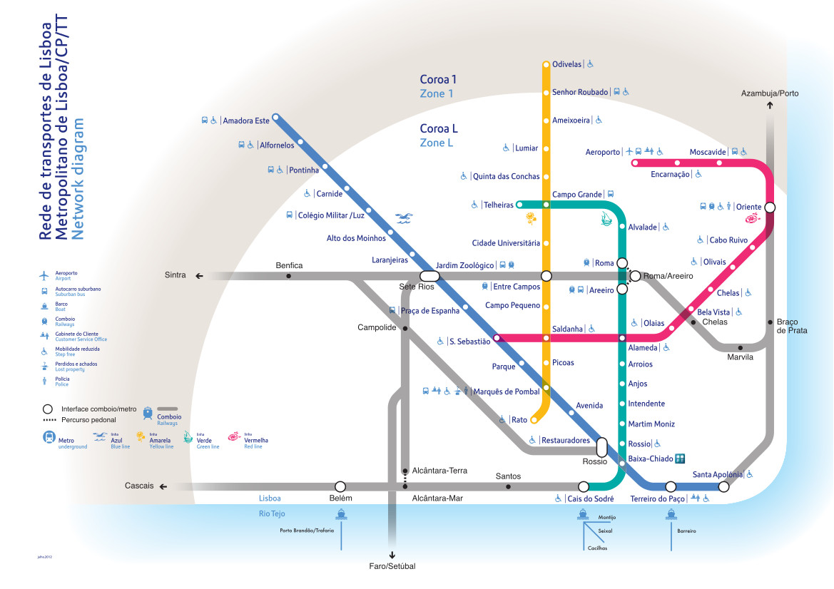 Plan métro Lisbonne